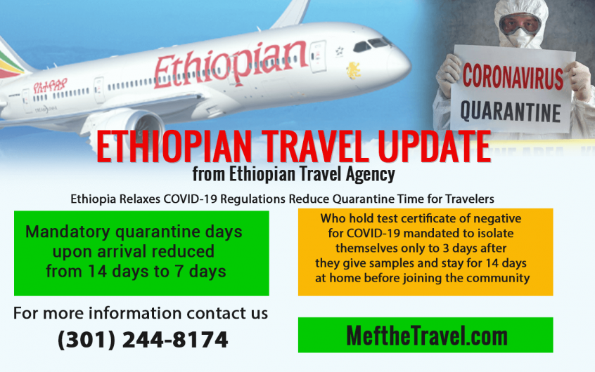 Ethiopia Changed Regulations & Reduce Quarantine Time for Travelers